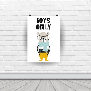 "Plakat ""BOYS ONLY"""