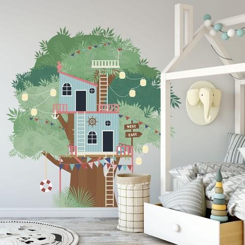 Naklejki Z Domkiem Na Drzewie Do Pokoju Dziecięcego